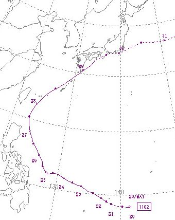 Typhoon201102path